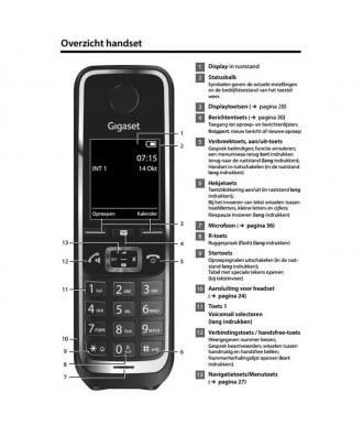 Gigaset C530HX handset - ZWART