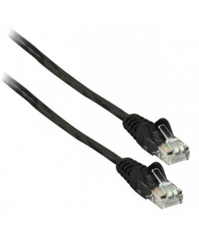 UTP-kabel - 1 meter CAT5e straight Zwart