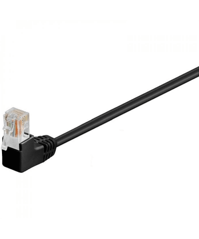 UTP-kabel - 0.3 meter CAT6 straight Zwart haaks