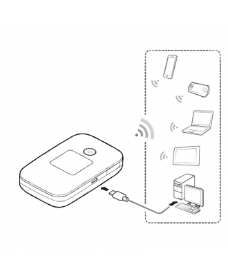 Huawei E5577S-321 4G MiFi hotspot zwart