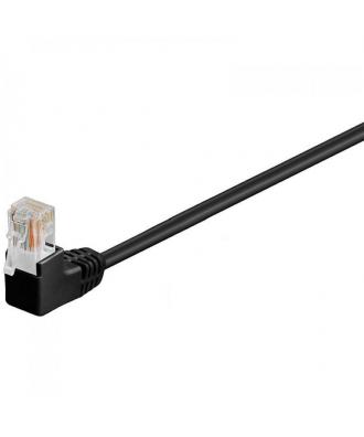 UTP-kabel - 0.25 meter CAT5E straight Zwart 2 x haaks