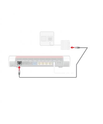 FRITZ!Box DSL-kabel voor analoge internetaansluiting