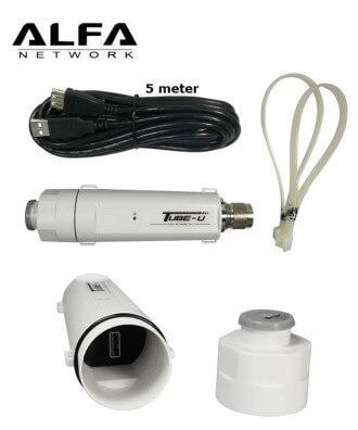 Alfa TubeU(N) 11b/g/n Long-Range Outdoor AP/CPE met N-connector
