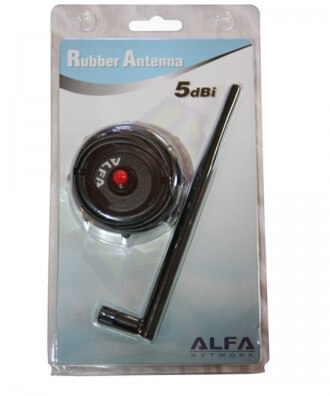 Alfa ARS-H002 5 dBi rubber dipole antenne op magneetvoet 2,4 GHz