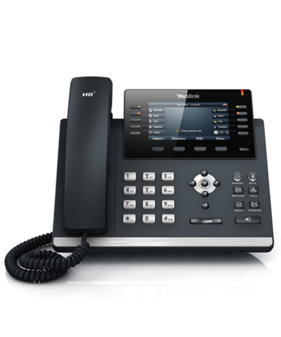 Yealink SIP-T46G 16-lijns color IP Phone excl. voedingsadapter