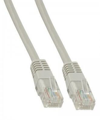 UTP-kabel - 0.5 meter CAT5e straight Grijs