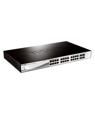 D-Link 28-poorts (12x PoE) 10/100 Rackmountable Switch