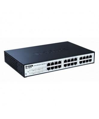 D-Link 24-poorts (12x PoE) Gigabit Rackmountable Switch